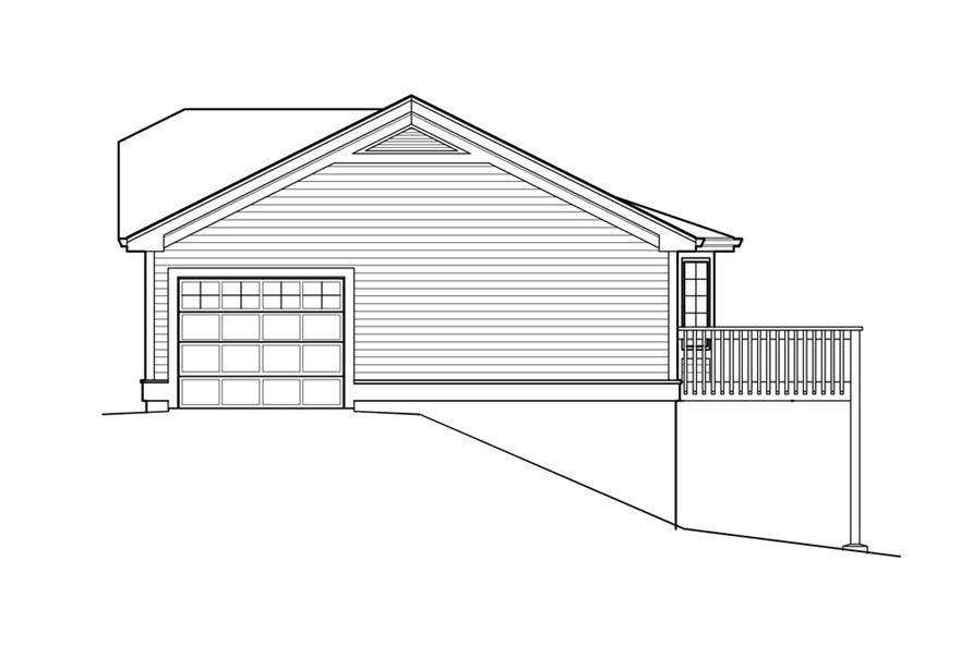 138-1211: Home Plan Right Elevation