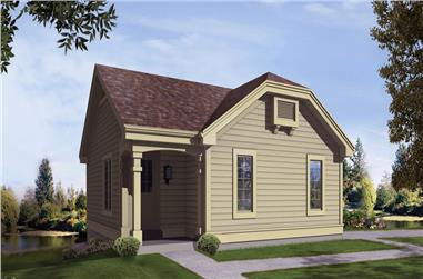 2-Bedroom, 1142 Sq Ft Small House Plans - 138-1211 - Main Exterior