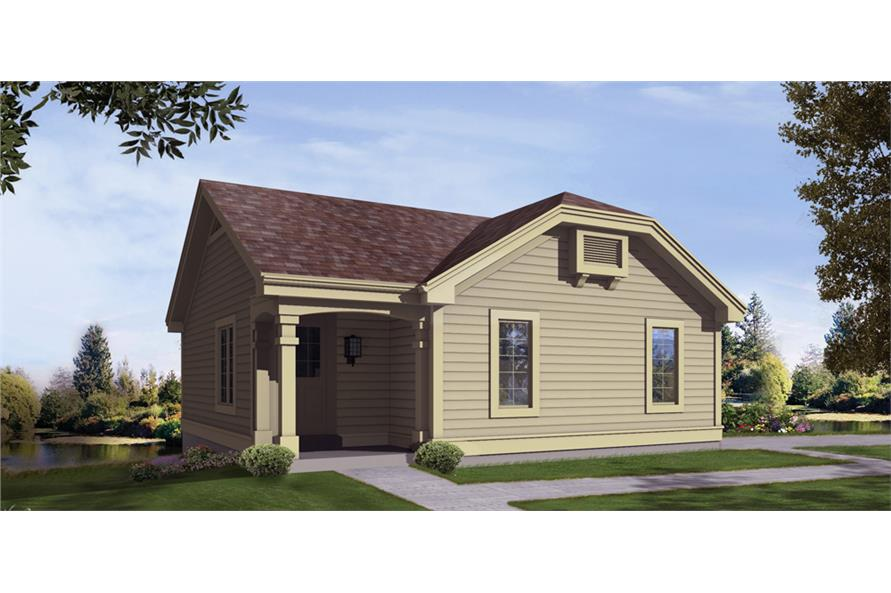Front elevation of Small House Plans home (ThePlanCollection: House Plan #138-1211)