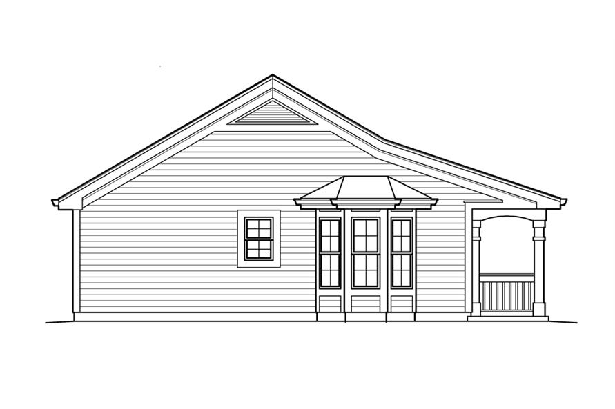 Home Plan Left Elevation of this 1-Bedroom,496 Sq Ft Plan -138-1212
