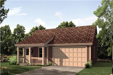 1-Bedroom, 496 Sq Ft Cottage Home Plan - 138-1212 - Main Exterior