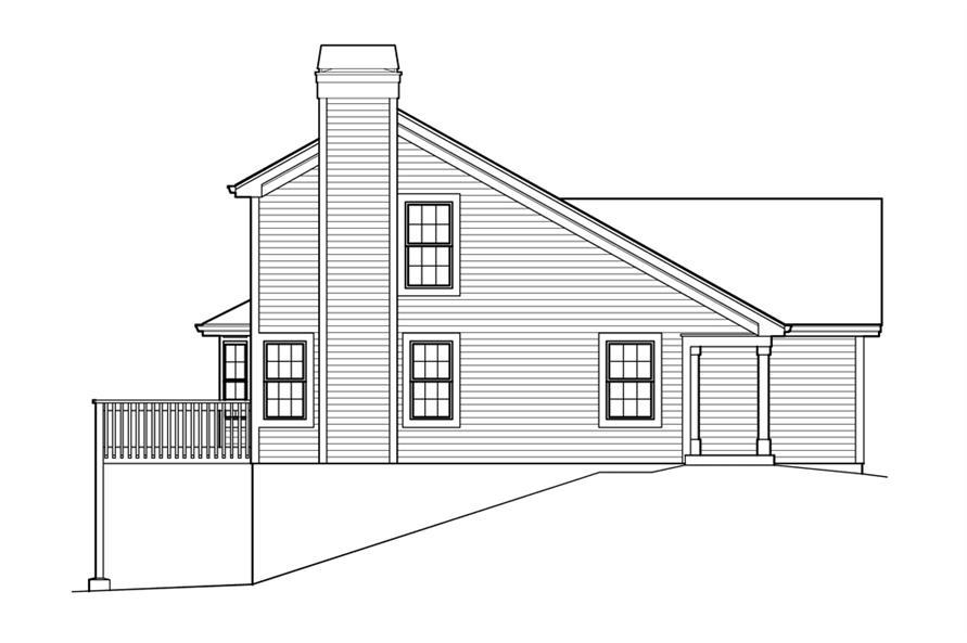 138-1213: Home Plan Left Elevation