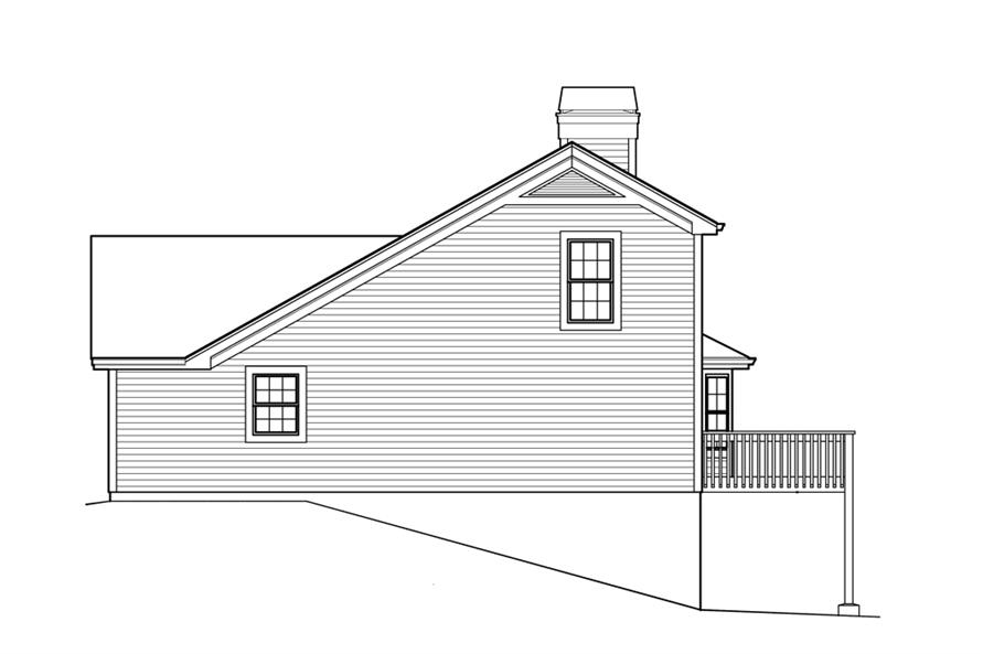 138-1213: Home Plan Right Elevation