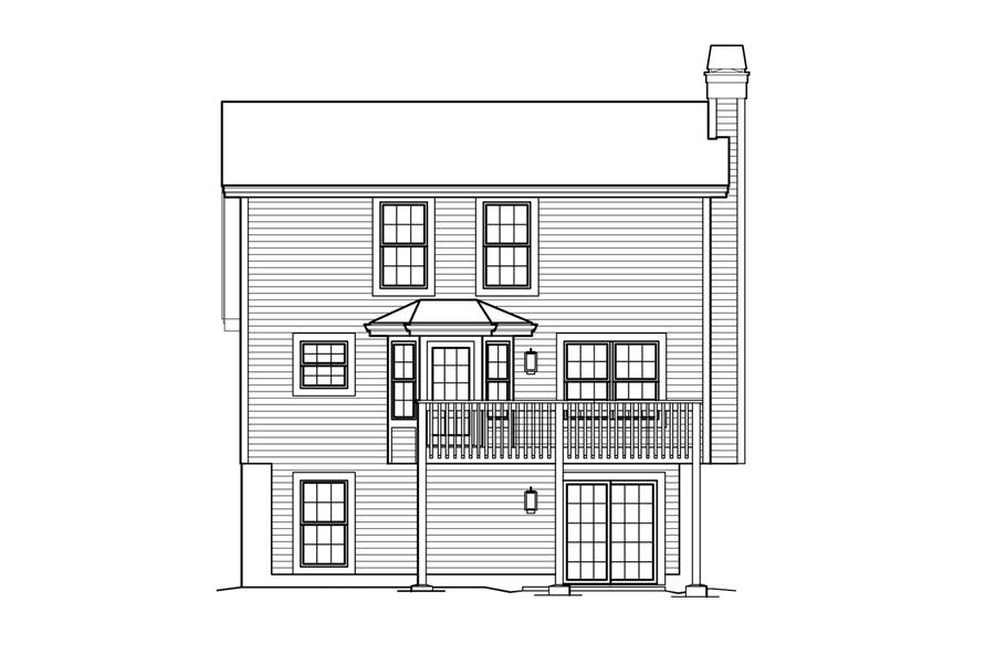 138-1213: Home Plan Rear Elevation