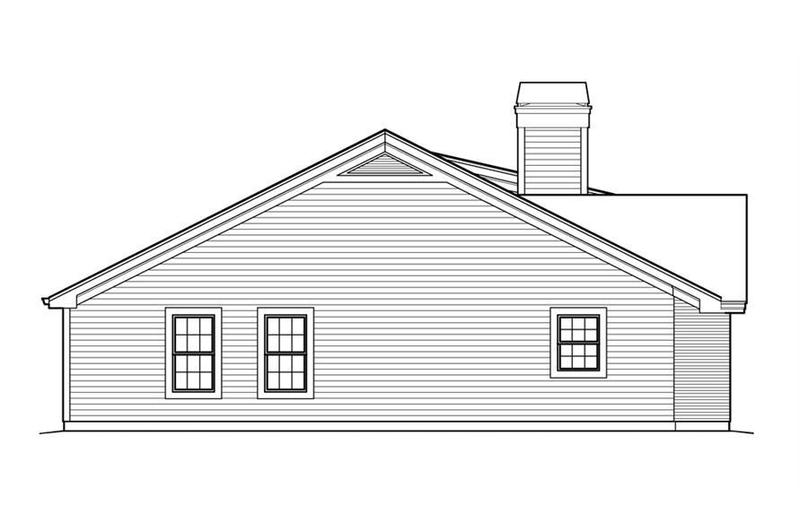138-1214: Home Plan Left Elevation