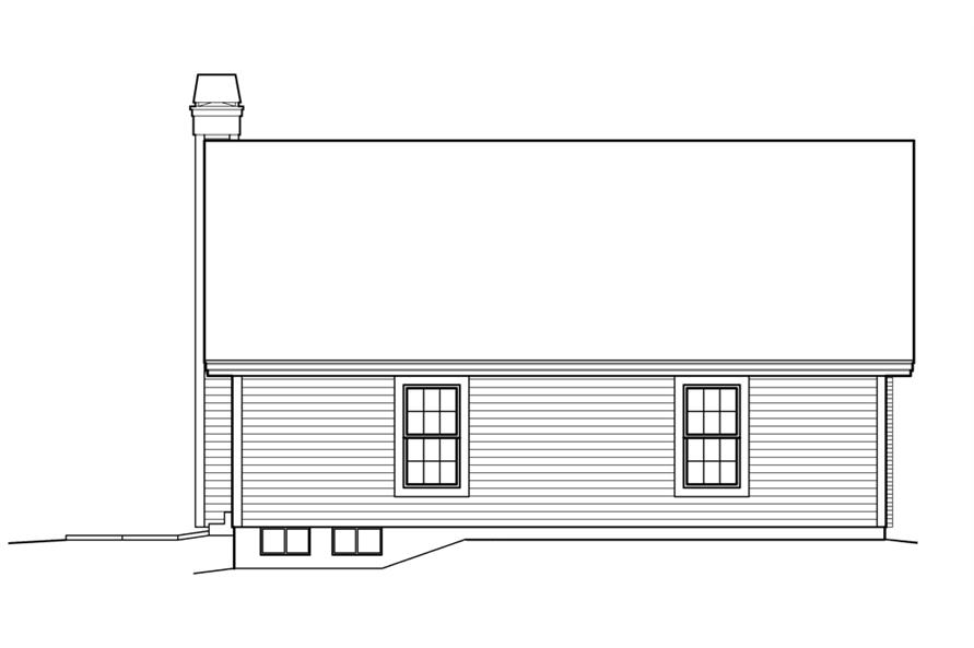138-1214: Home Plan Rear Elevation