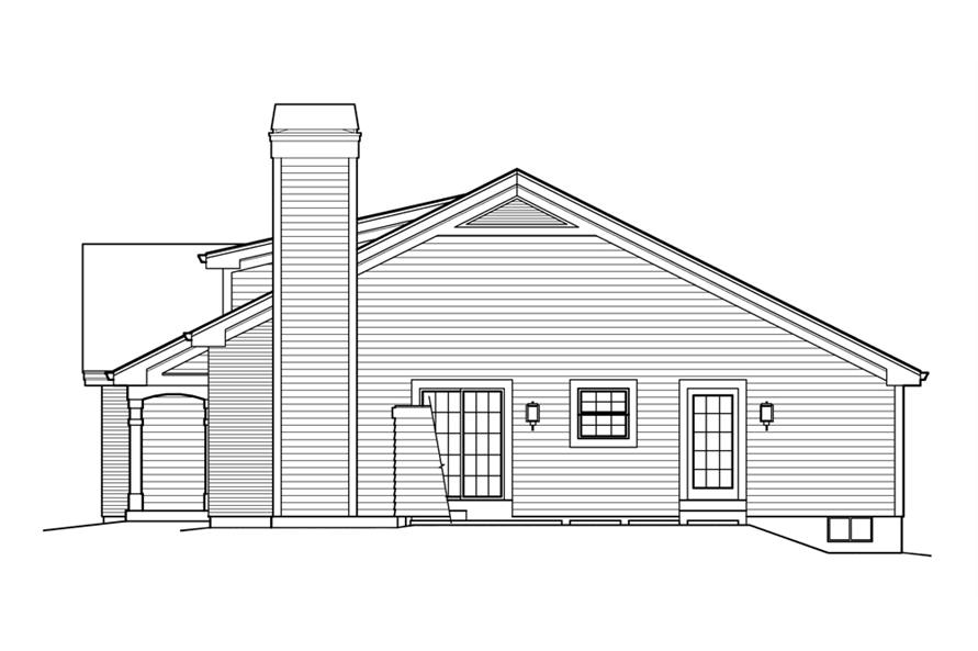 138-1214: Home Plan Right Elevation