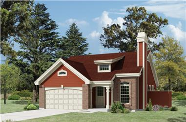 3-Bedroom, 1153 Sq Ft Country Home Plan - 138-1214 - Main Exterior