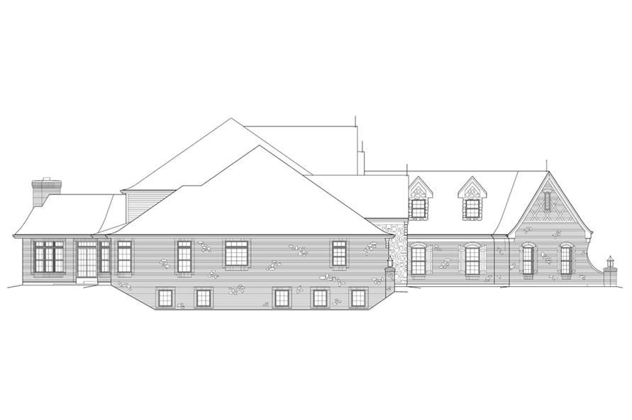 138-1215: Home Plan Left Elevation
