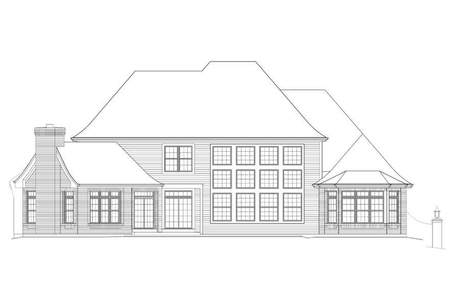 138-1215: Home Plan Rear Elevation