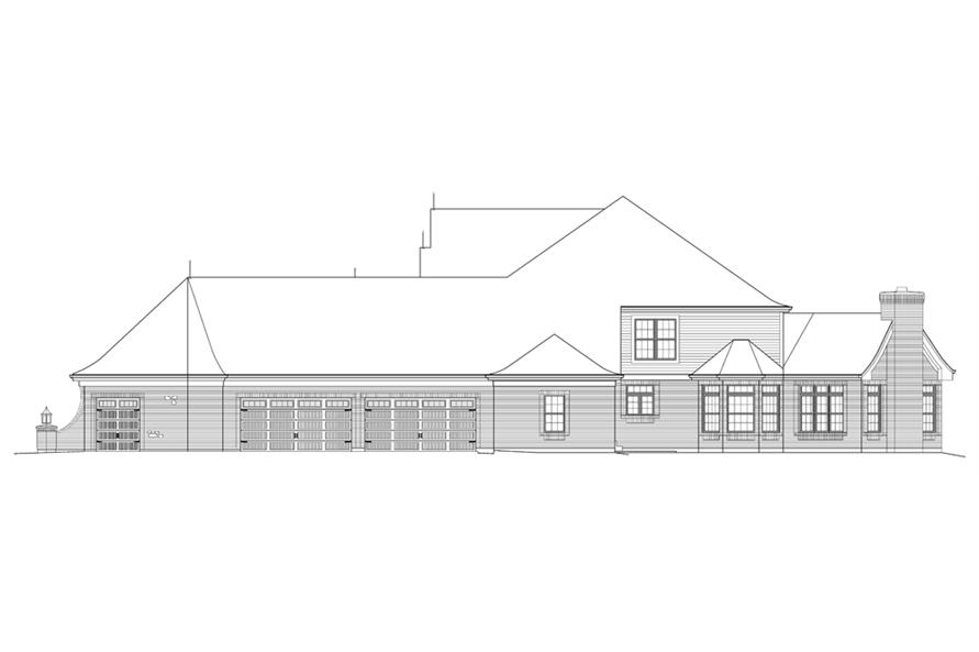 138-1215: Home Plan Right Elevation