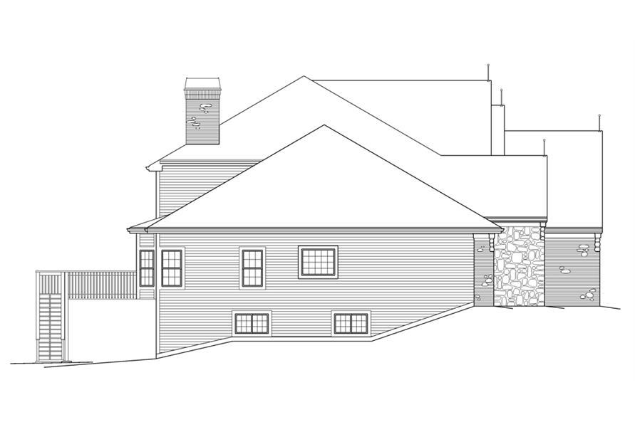 138-1216: Home Plan Left Elevation