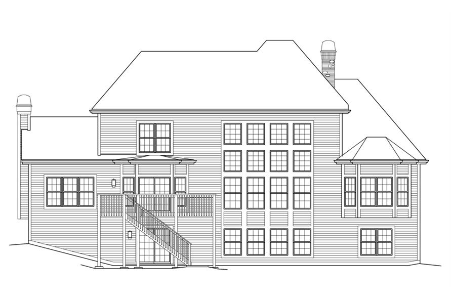 138-1216: Home Plan Rear Elevation