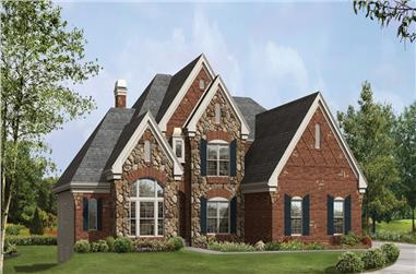 4-Bedroom, 4409 Sq Ft European House Plan - 138-1216 - Front Exterior