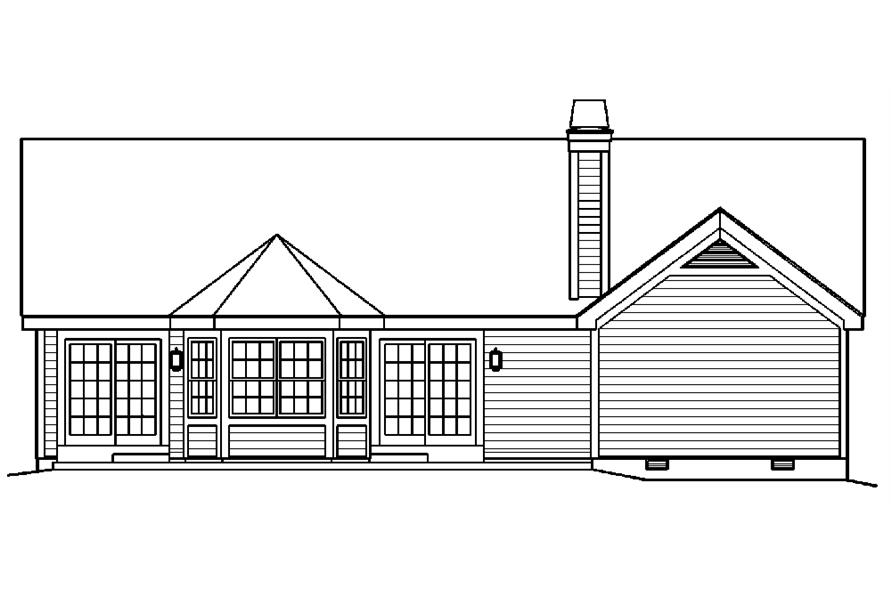 138-1217: Home Plan Rear Elevation
