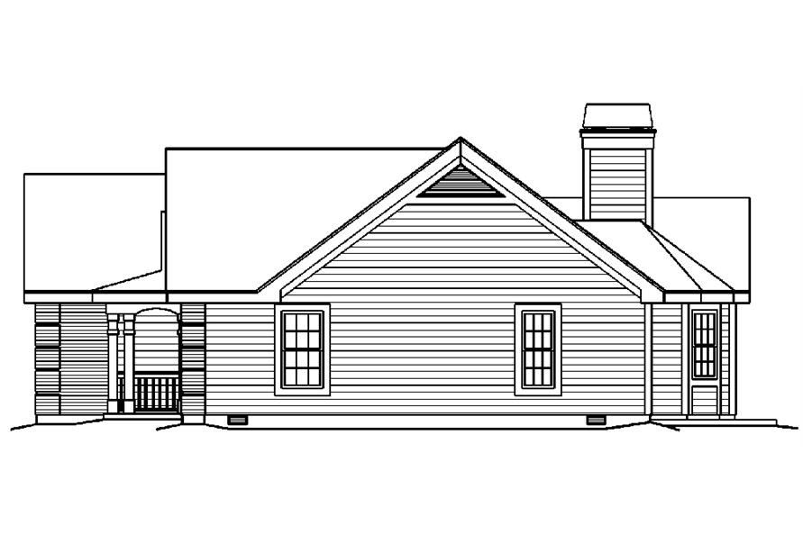 138-1217: Home Plan Right Elevation