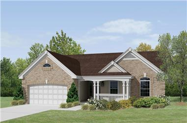 3-Bedroom, 1580 Sq Ft Ranch House Plan - 138-1217 - Front Exterior