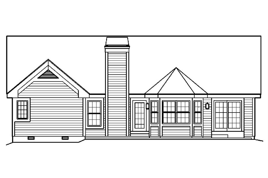 138-1218: Home Plan Rear Elevation