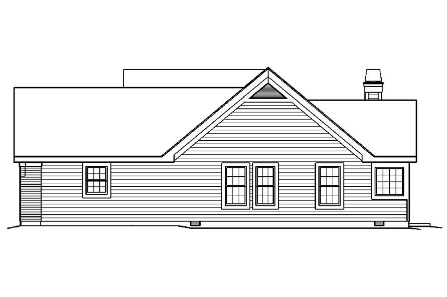 138-1218: Home Plan Right Elevation