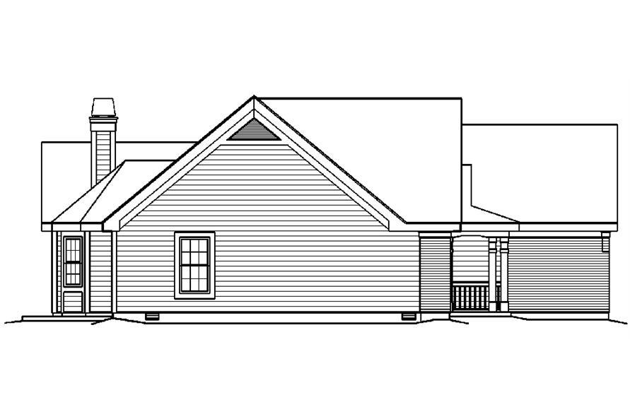 138-1218: Home Plan Left Elevation