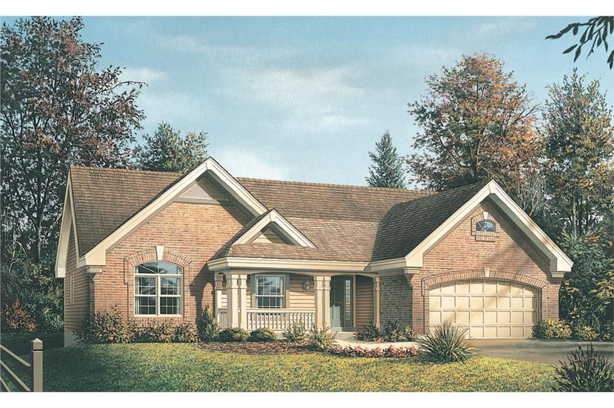 Front elevation of Country home (ThePlanCollection: House Plan #138-1218)