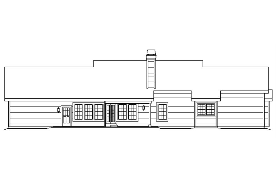 138-1219: Home Plan Rear Elevation