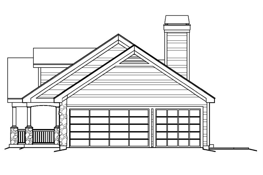 138-1219: Home Plan Right Elevation