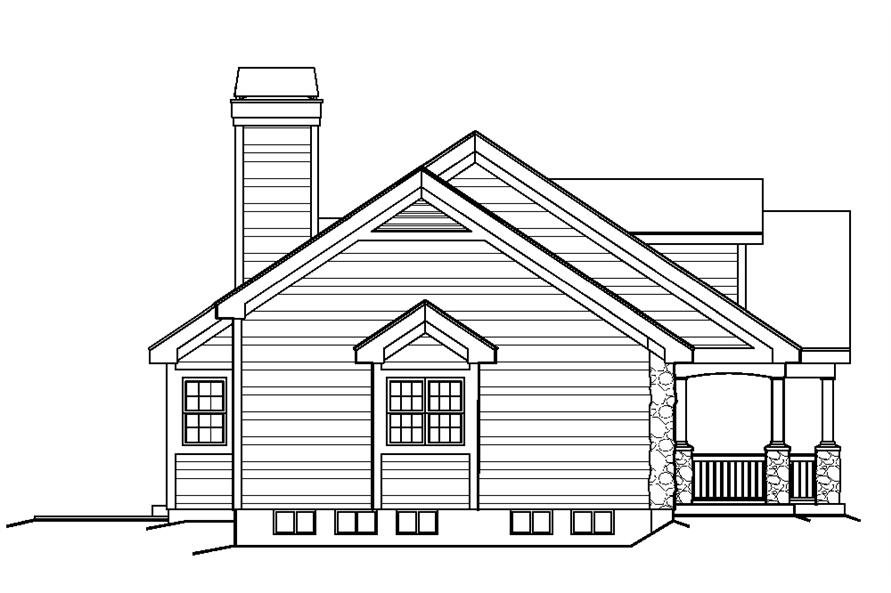 138-1219: Home Plan Left Elevation