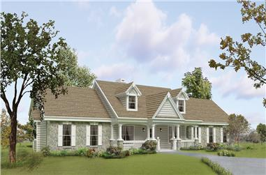 3-Bedroom, 1814 Sq Ft Traditional House Plan - 138-1219 - Front Exterior