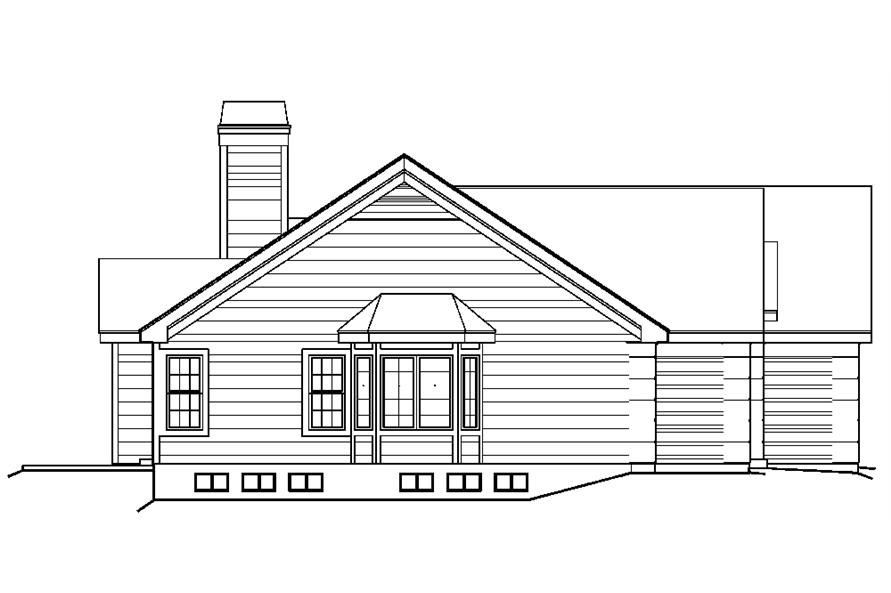 138-1220: Home Plan Left Elevation