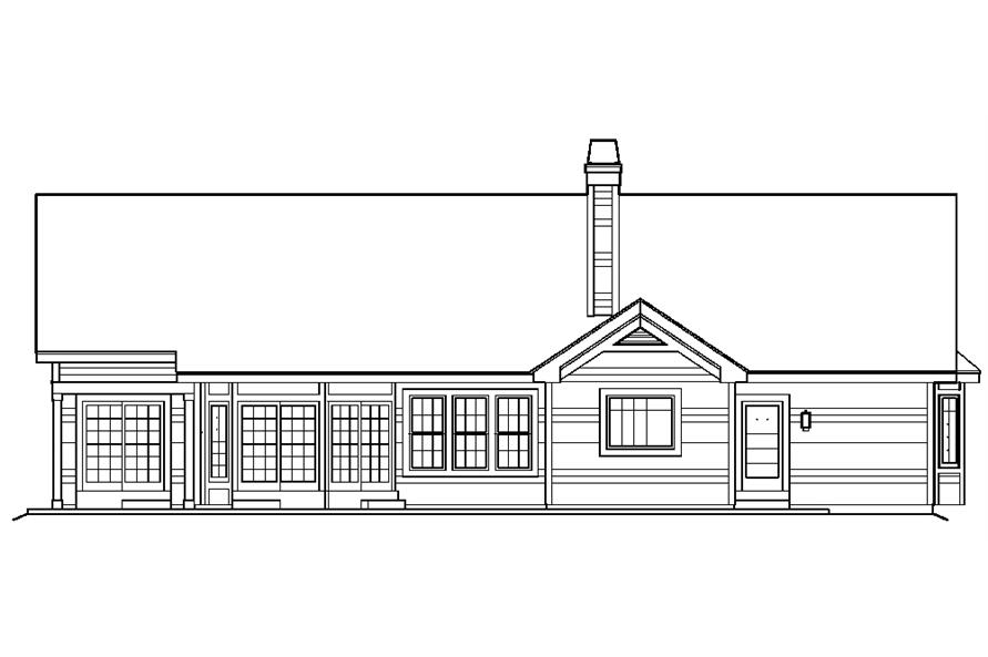 138-1220: Home Plan Rear Elevation