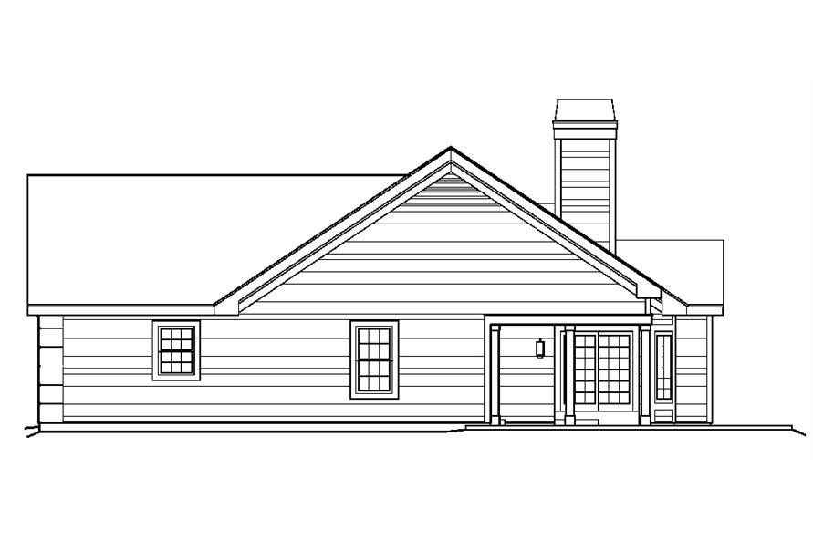 138-1220: Home Plan Right Elevation