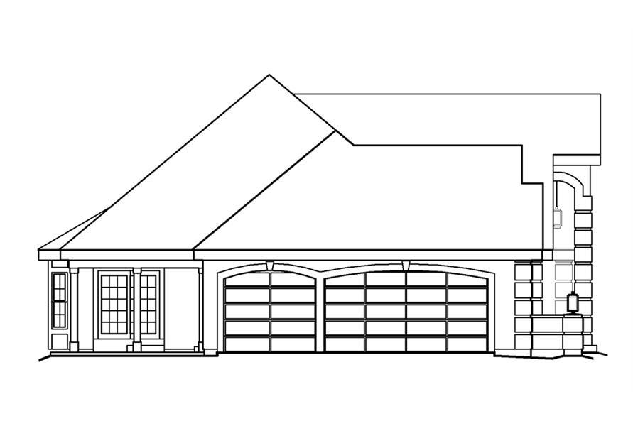 138-1221: Home Plan Left Elevation