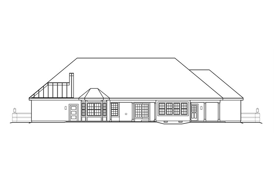 138-1221: Home Plan Rear Elevation