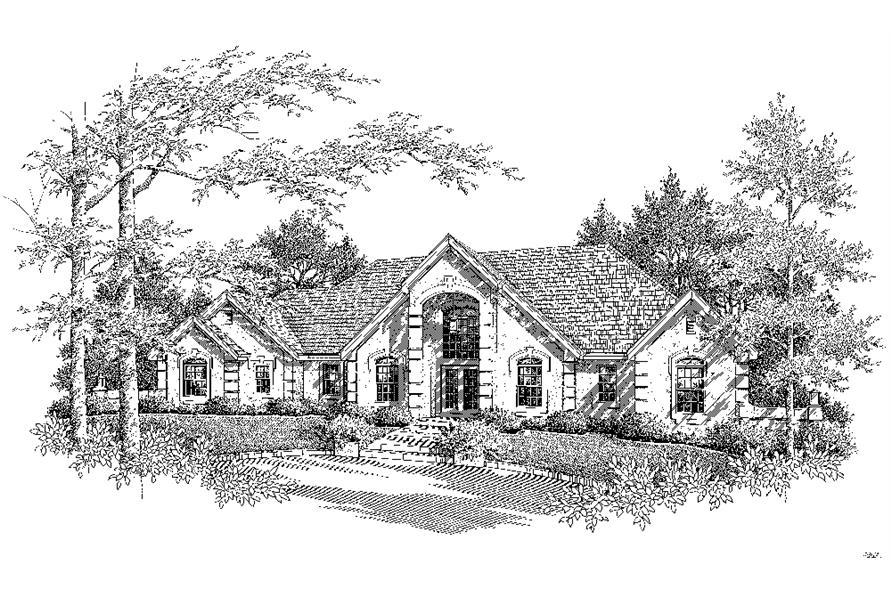 138-1221: Home Plan Rendering