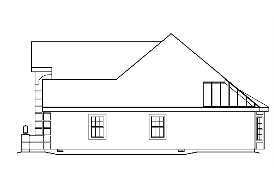 138-1221: Home Plan Right Elevation