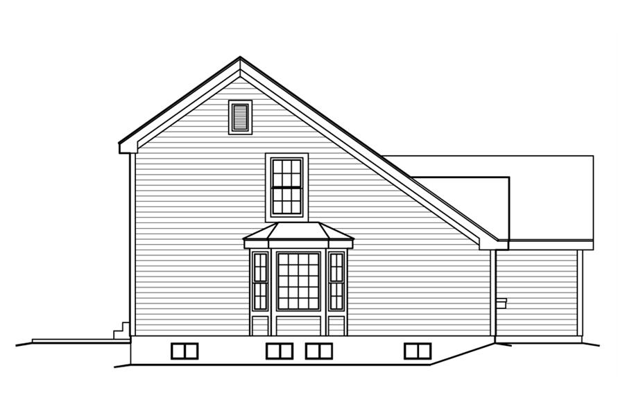 138-1222: Home Plan Left Elevation