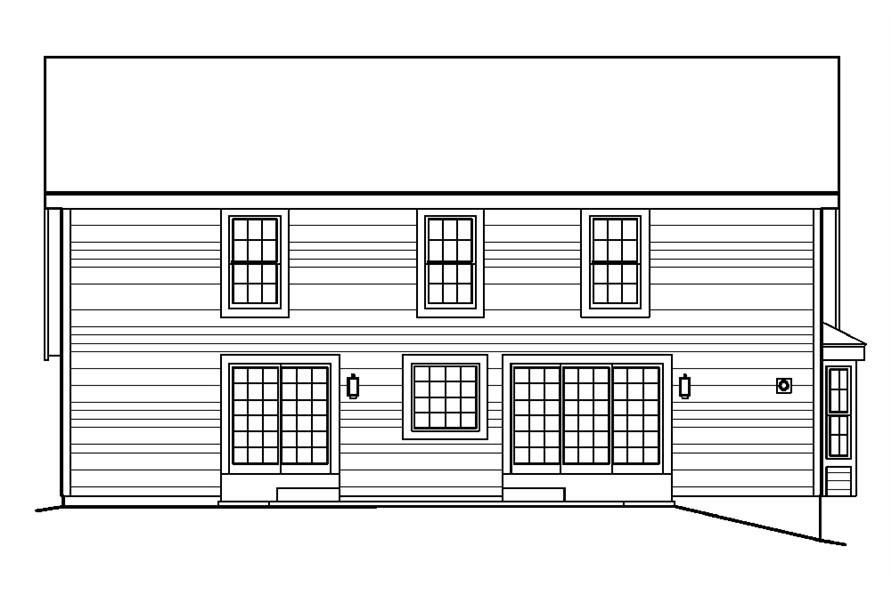 138-1222: Home Plan Rear Elevation