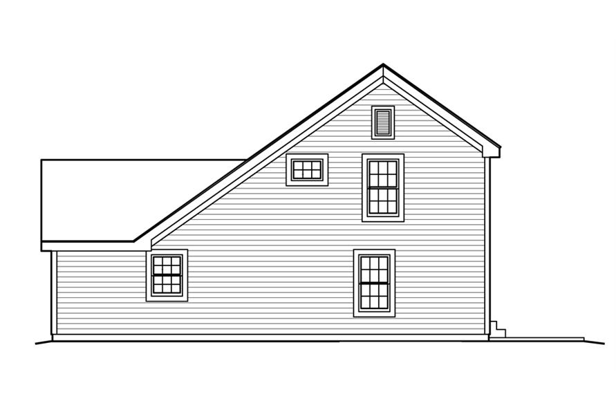 138-1222: Home Plan Right Elevation