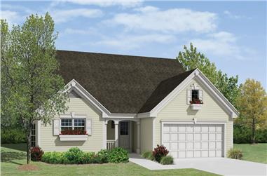 4-Bedroom, 2121 Sq Ft Country Home Plan - 138-1222 - Main Exterior