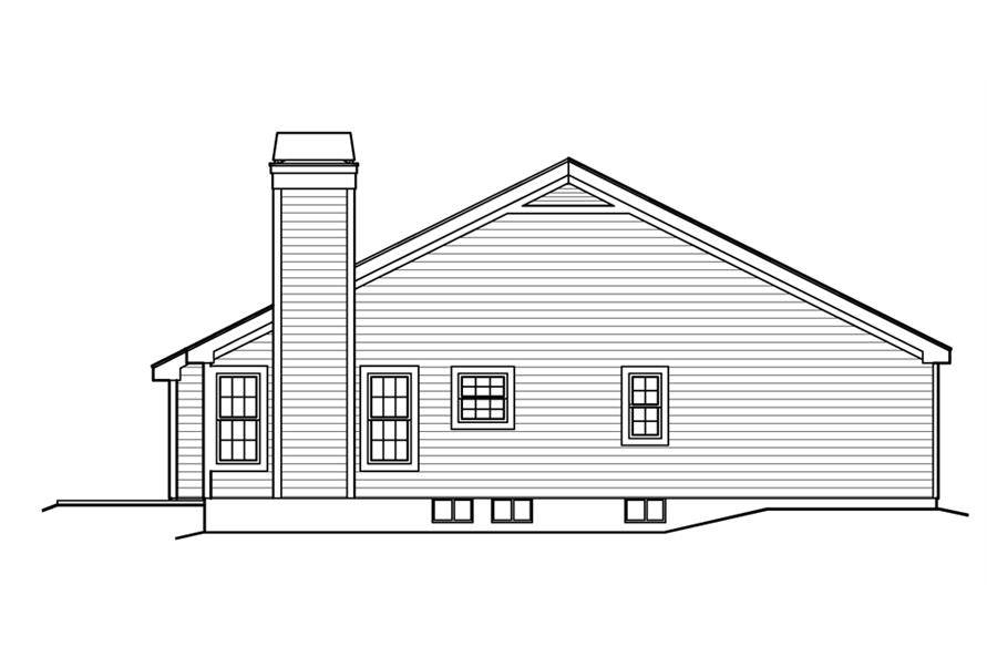 138-1223: Home Plan Left Elevation