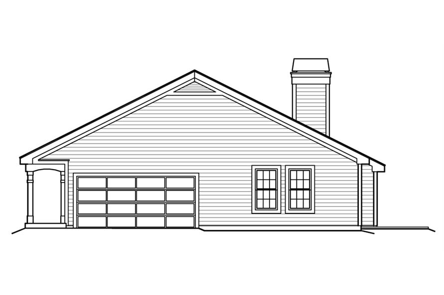 138-1223: Home Plan Right Elevation
