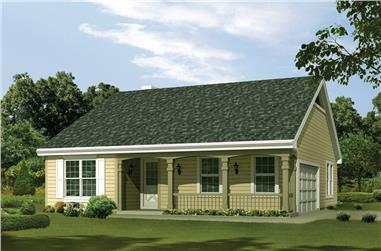 Front elevation of Cottage home (ThePlanCollection: House Plan #138-1223)