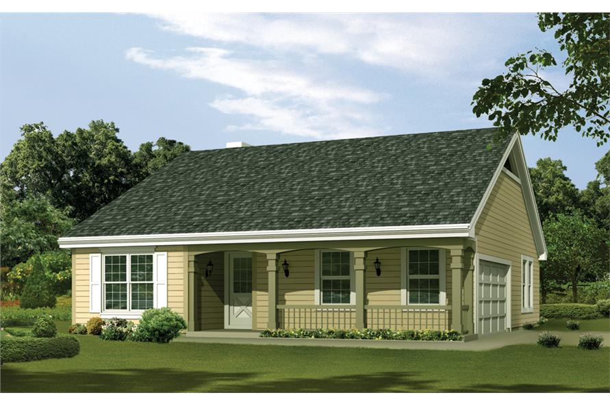 3-Bedroom, 1202 Sq Ft Cottage Home Plan - 138-1223 - Main Exterior