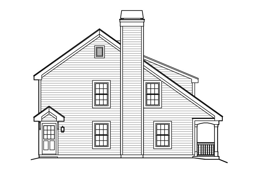 138-1224: Home Plan Left Elevation