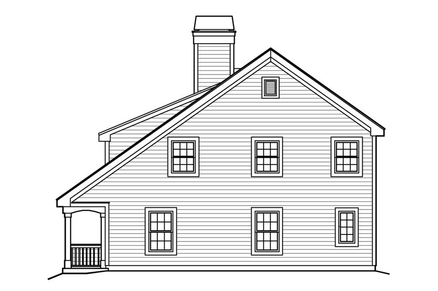 138-1224: Home Plan Right Elevation