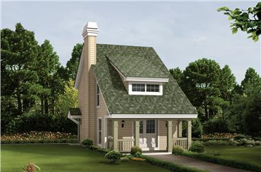 2-Bedroom, 1131 Sq Ft Cottage Home Plan - 138-1224 - Main Exterior