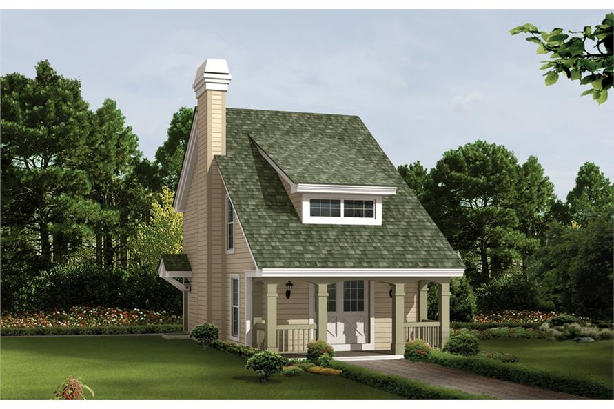 Front elevation of Cottage home (ThePlanCollection: House Plan #138-1224)