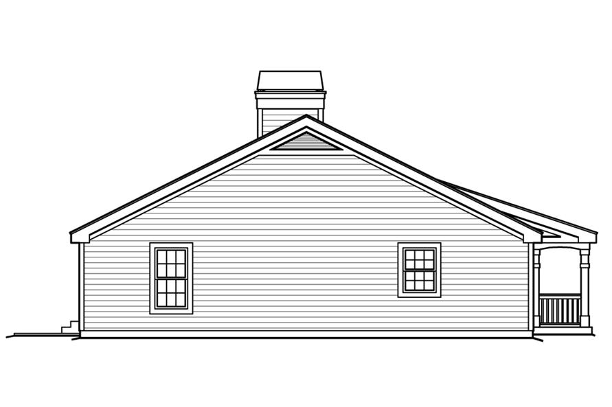 138-1225: Home Plan Left Elevation