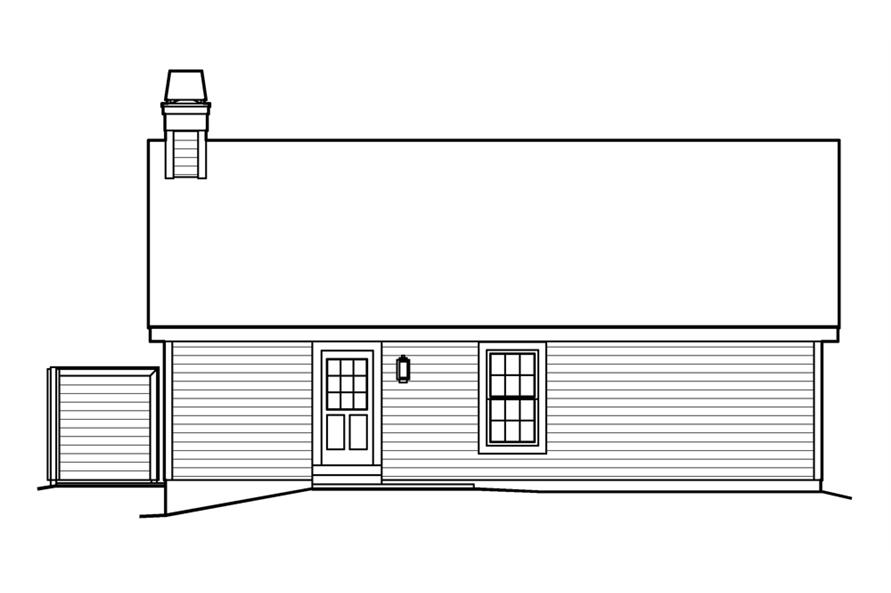 138-1225: Home Plan Rear Elevation
